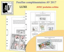 Feuilles France 2017 pour Timbres AV Editions