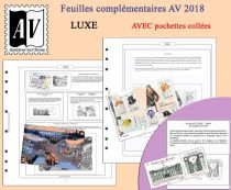 Feuilles France 2018 pour Timbres AV Editions