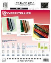 Feuilles SC france 2016/1er semestre pour timbres YVERT