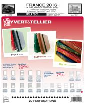 Feuilles SC france 2016/2ème semestre pour timbres YVERT