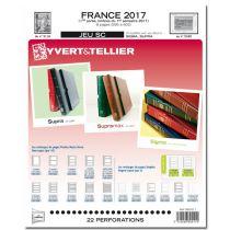 Feuilles SC france 2017/1er semestre pour timbres YVERT