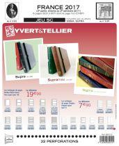Feuilles SC france 2017/2ème semestre pour timbres YVERT