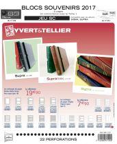 Feuilles SC france 2017 Souvenirs Philatéliques pour timbres YVERT