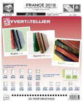 Feuilles SC france 2018/1er semestre pour timbres YVERT