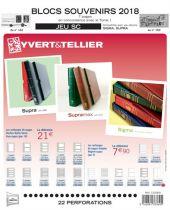 Feuilles SC france 2018 Souvenirs Philatéliques pour timbres YVERT