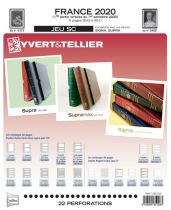 Feuilles SC france 2020/1er semestre pour timbres YVERT