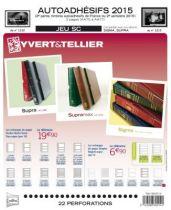 Feuilles SC france Autoadhésifs 2015/2ème semestre pour timbres YVERT