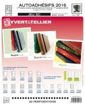 Feuilles SC france Autoadhésifs 2016/1er semestre pour timbres YVERT