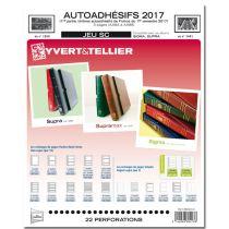 Feuilles SC france Autoadhésifs 2017/1er semestre pour timbres YVERT