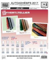 Feuilles SC france Autoadhésifs 2017/2ème semestre pour timbres YVERT