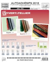Feuilles SC france Autoadhésifs 2018/1er semestre pour timbres YVERT