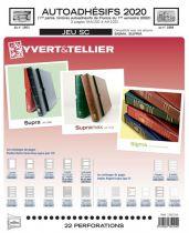 Feuilles SC france Autoadhésifs 2020/1er semestre pour timbres YVERT