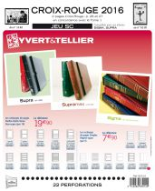Feuilles SC france Croix-Rouge 2016 pour timbres YVERT