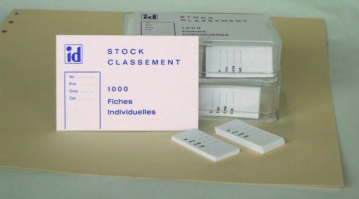 Fiches de Classement (1000) format 18 x 38 mmm SAFE