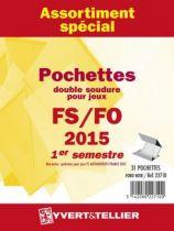 France 2015/1er Semestre Assortiment de pochettes de protection pour Timbres Gommés YVERT