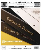 France 2015/1er Semestre Feuilles Annuelles Autoadhésifs Liseré Noir FS pour Timbres YVERT