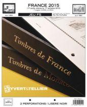 France 2015/1er Semestre Feuilles Annuelles Liseré Noir FS pour Timbres YVERT