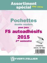 France 2015/1er Semestre FS Assortiment de pochettes de protection pour Timbres Adhésifs YVERT