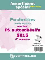 France 2015/2ème Semestre Assortiment de pochettes de protection pour Timbres Adhésifs YVERT