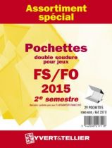 France 2015/2ème Semestre Assortiment de pochettes de protection pour Timbres Gommés YVERT