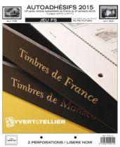 France 2015/2eme Semestre Feuilles Annuelles Autoadhésifs Liseré Noir FS pour Timbres YVERT