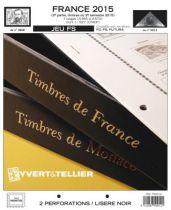 France 2015/2eme Semestre Feuilles Annuelles Liseré Noir FS pour Timbres YVERT