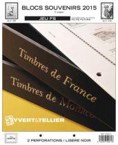 France 2015 Blocs Souvenir Feuilles Annuelles Liseré Noir FS pour Timbres YVERT
