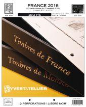 France 2016/1er Semestre Feuilles Annuelles Liseré Noir FS pour Timbres YVERT