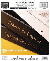 France 2016/2ème Semestre Feuilles Annuelles Liseré Noir FS pour Timbres YVERT