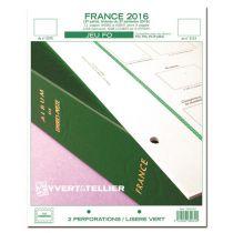 France 2016/2ème Semestre Feuilles Annuelles Liseré Vert FO pour Timbres YVERT
