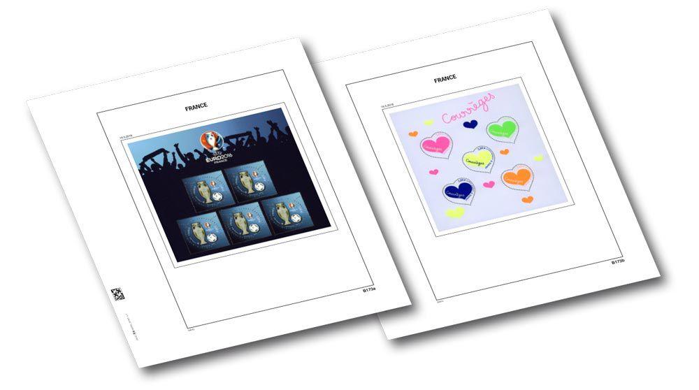france 2016 1 blocs euro2016 et courr ge plexi feuille annuelle luxe pour timbres davo. Black Bedroom Furniture Sets. Home Design Ideas