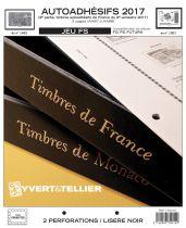 France 2017/2ème Semestre Feuilles Annuelles Autoadhésifs Liseré Noir FS pour Timbres YVERT
