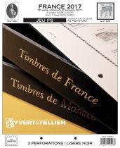 France 2017/2ème Semestre Feuilles Annuelles Liseré Noir FS pour Timbres YVERT