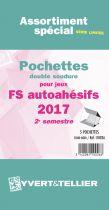 France 2017/2ème Semestre FO FS Assortiment de pochettes de protection pour Timbres Adhésifs YVERT