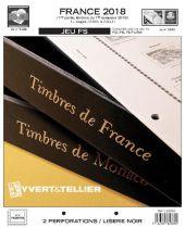 France 2018/1er Semestre Feuilles Annuelles Liseré Noir FS pour Timbres YVERT