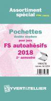 France 2018/1er Semestre FS Assortiment de pochettes de protection pour Timbres Autoadhésifs YVERT