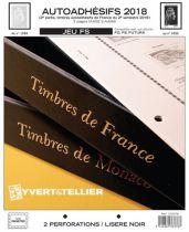 France 2018/2ème Semestre Feuilles Annuelles Autoadhésifs Liseré Noir FS pour Timbres YVERT