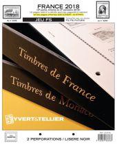 France 2018/2ème Semestre Feuilles Annuelles Liseré Noir FS pour Timbres YVERT