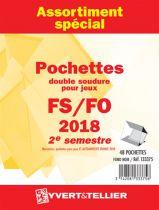 France 2018/2ème Semestre FO FS Assortiment de pochettes de protection pour Timbres Gommés YVERT
