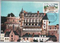 France Château d\'Amboise 1963 Carte Maximum
