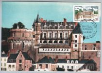 France Château d\'Amboise 1963 Carte Maximum