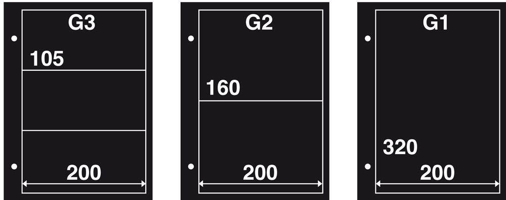 Gaines FDC G3 Intercalaires Noires (10)