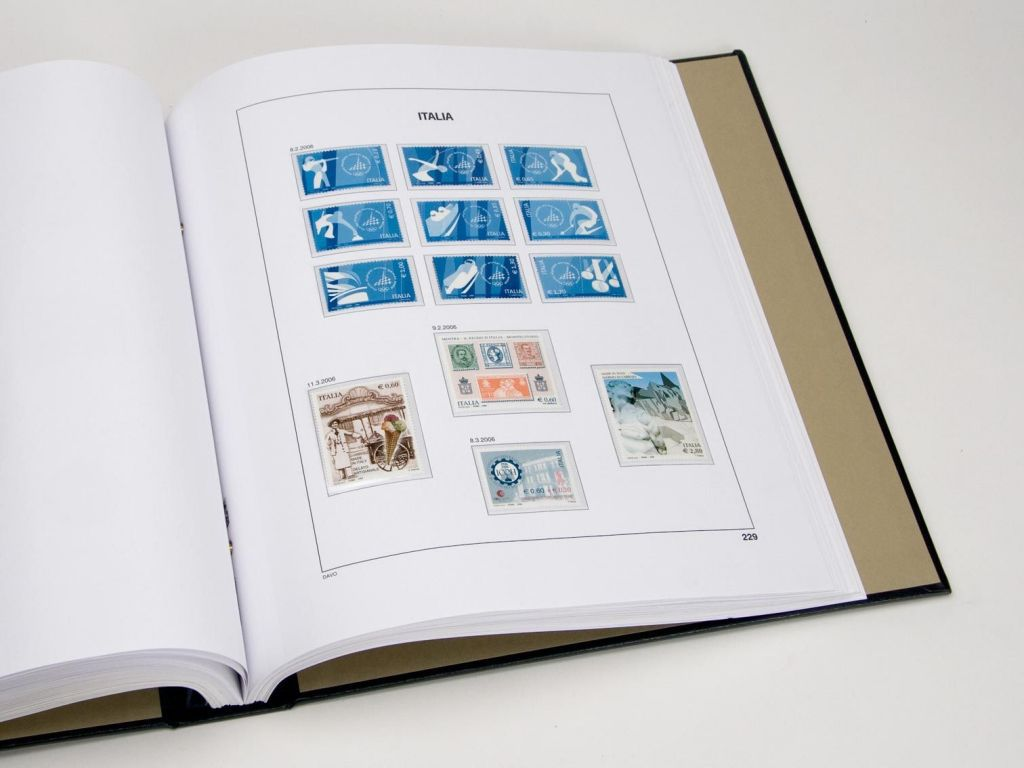 Italie 2016 Feuilles Annuelles Luxe pour Timbres DAVO