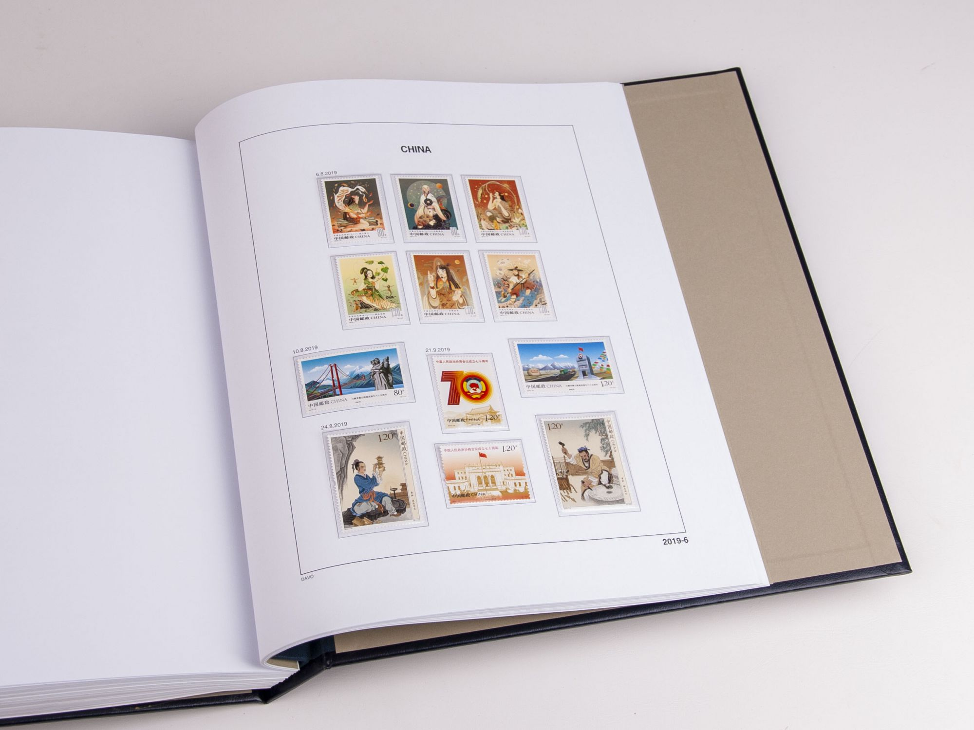 Jeu Luxe China 2019 pour Timbres DAVO
