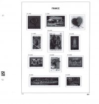 Jeu Luxe France 2000 (13) pour Timbres DAVO
