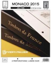 Monaco 2015 Feuilles Annuelles Liseré Vert FE pour Timbres YVERT