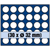 Plateau 30 cases diamètre 32mm pour pièces de 2€ sous capsules SAFE
