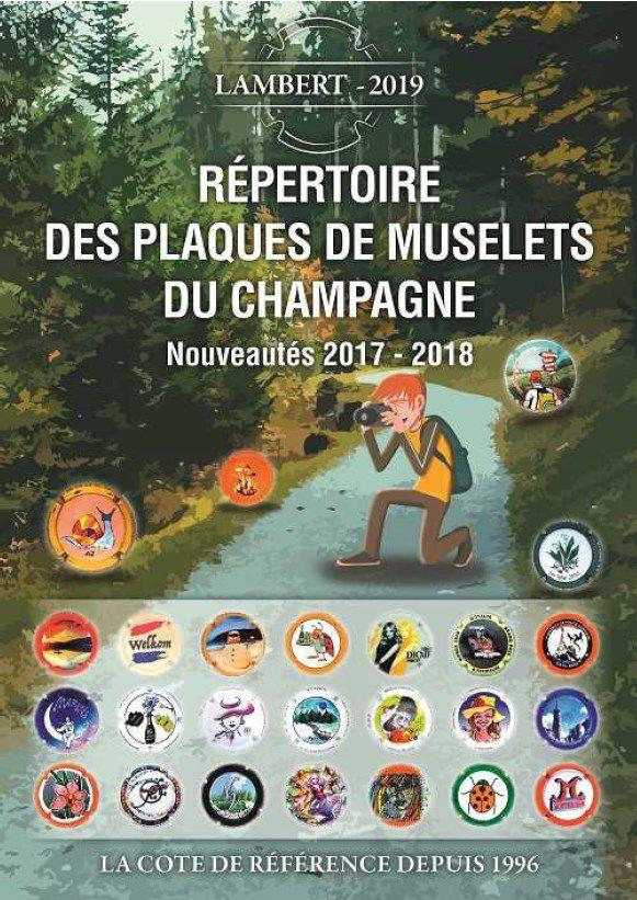 Répertoire Lambert des plaques de muselets de Champagne Nouveautés 2017-2018