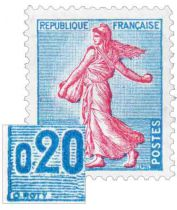 Timbre 1233 France 1960