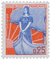 Timbre 1234 France 1960